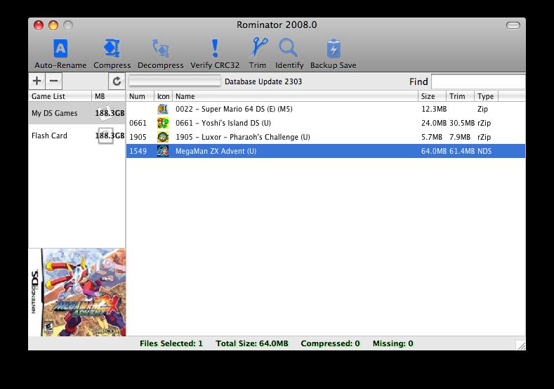 Thumbnail 1 for Rominator v2008.20 (Mac OS X)
